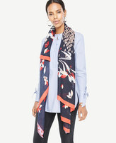 Ann Taylor Mixed Floral Scarf