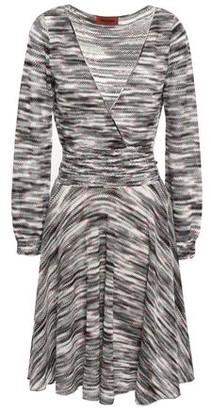 Missoni Wrap-effect Marled Open-knit Wool Dress