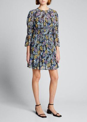 Cinq à Sept June Paradise Floral-Print Tiered Dress