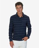 Nautica Big & Tall Striped Long Sleeve Polo Shirt