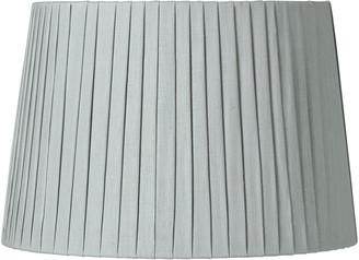 OKA 35cm Pleated Linen Lampshade - Grey Blue