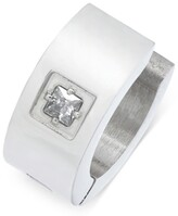 Thumbnail for your product : Sutton by Rhona Sutton Men's Stainless Steel Cubic Zirconia Solitaire Huggie Hoop Earring