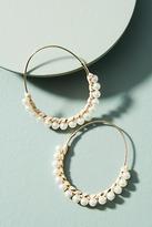 Anthropologie Callie Pearl Hoop Earrings