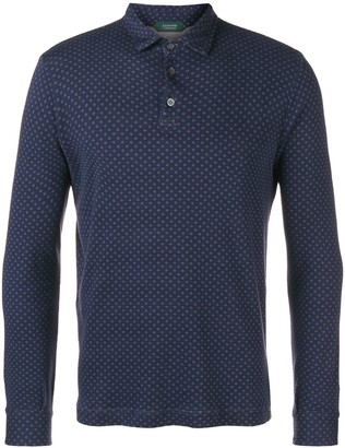 Zanone Long-Sleeve Fitted Polo Shirt