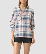 AllSaints Bella Oversize Check Shirt
