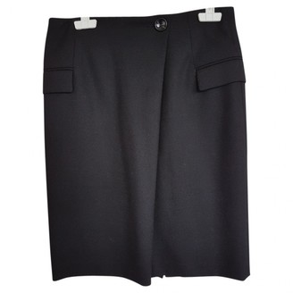 Mauro Grifoni Black Wool Skirt for Women
