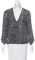 Joie Silk Abstract Print Blouse
