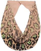 Mignonne Gavigan Leopard Le Charlot Necklace in Nude/Green