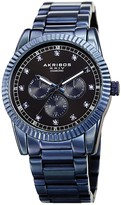 Akribos XXIV Men's Multifunction Genuine Diamond Bracelet Watch