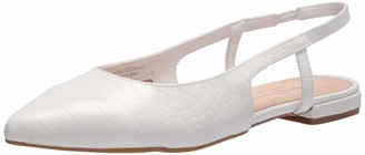 Chinese Laundry womens Slingback Flat Ballet Flat White 11 medium US