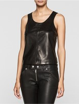 Calvin Klein Rebel Edge Leather Tank Top