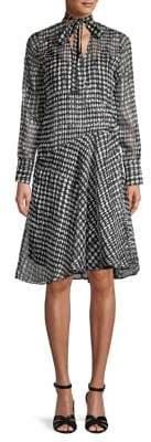 Caara Ryland Asymmetrical Polka Dot Dress