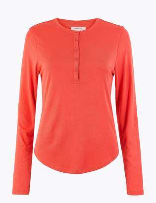 Marks and Spencer Ribbed Slim Fit Top