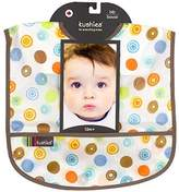 Kushies Waterproof Bib, White Circle, Infant by