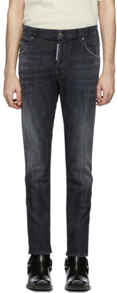 DSQUARED2 Black New Skater Wash Jeans