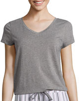 Liz Claiborne Short-Sleeve Knit Tee - Plus
