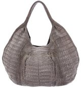 Nancy Gonzalez Matte Crocodile Hobo