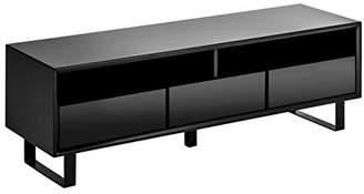 Premier Housewares 3-Drawer/2 Shelves High Gloss Media Cabinet - Black