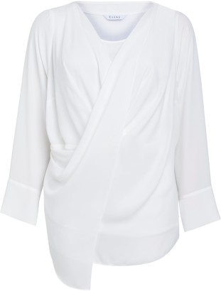 Evans Ivory Wrap Front Top