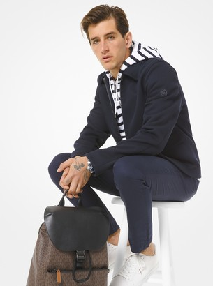 Michael Kors Bonded Stretch-Twill Harrington Jacket