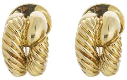David Yurman 18K Yellow Gold Braided Earrings