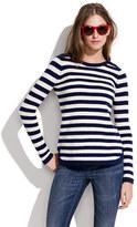 Madewell Bateau button sweater in stripe