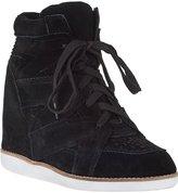 Jeffrey Campbell Venice Wedge Sneaker Black Suede