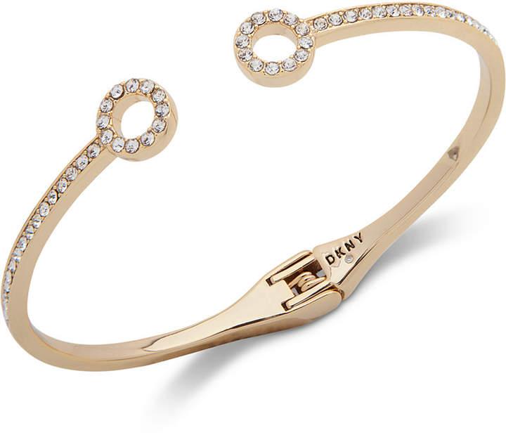 DKNY Pave Circle Cuff Bracelet