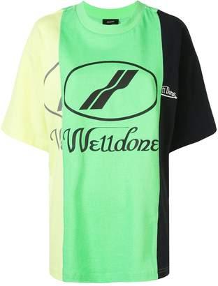 we11done striped logo T-shirt