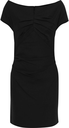 Helmut Lang Off-the-shoulder Ruched Stretch-crepe Mini Dress