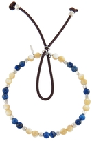 Catherine Michiels Mother of Pearl, Lapis and Sterling Silver Cube Bracelet