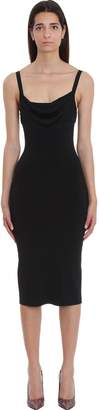 Theory Dress In Black Tech/synthetic