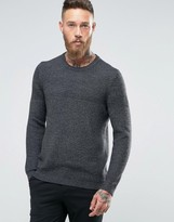 Ted Baker Knitted Sweater With Contrast Yoke