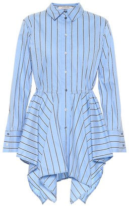 Schumacher Dorothee Striped stretch cotton-blend shirt