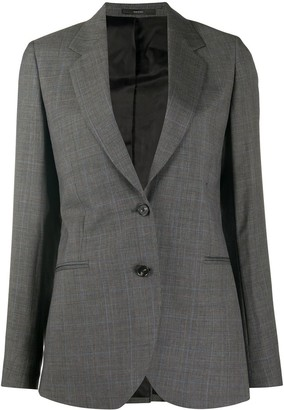 Paul Smith Check Print Single-Breasted Blazer