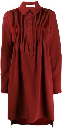 See by Chloe pleated bib shirt dress