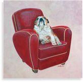 Bed Bath & Beyond Bulldog on Red Wall Art
