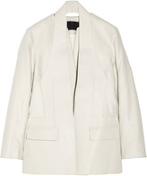 Alexander Wang Leather and brushed-twill blazer
