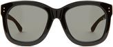 Linda Farrow Wood and acetate D-frame sunglasses