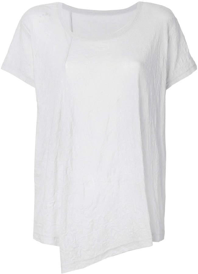Y's muslin asymmetric T-shirt