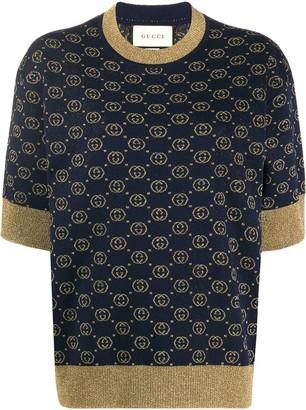 Gucci Interlocking G jacquard-knit top