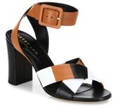 Derek Lam Alibi Colorblock Leather Block Heel Sandals