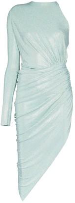Alexandre Vauthier Metallic Asymmetric Dress