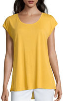 Liz Claiborne Extended-Shoulder Butterfly Tee