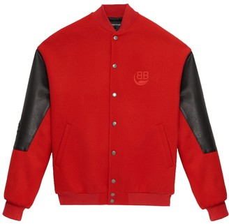 Balenciaga Red College Bomber Jacket