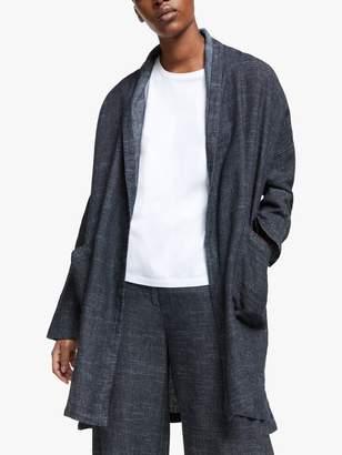 Eileen Fisher Denim Longline Coat, Indigo
