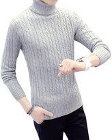BOMOVO Mens Casual Basic Knitted Turtleneck Slim Fit Pullover Thermal Sweaters