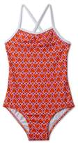Stella Cove Girl's Heart Print One-Piece Swimsuit