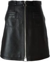 Carven full front zip skirt