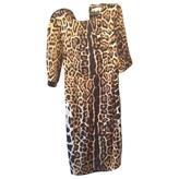 Saint Laurent Leopard print Silk Dress